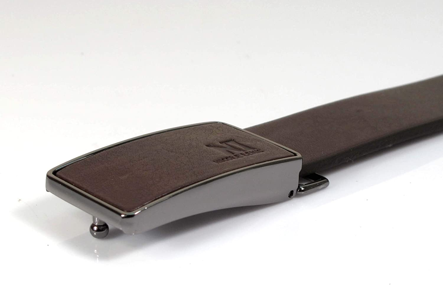 CA3 Mens Real Genuine Leather Belt Black Brown White 1.1 Wide S-L Casual Jeans