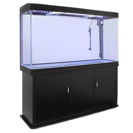 MonsterShop - Acuario 300 litros con Armario Negro, Luz LED y Visión de 180 Grados