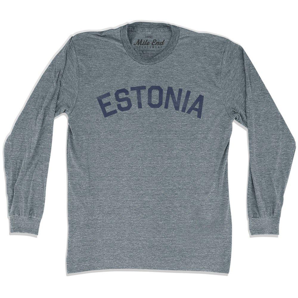 Estonia City Vintage Long Sleeve/T-shirt