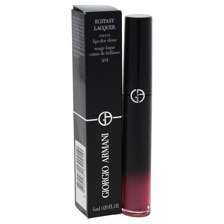 Giorgio Armani Ecstasy Lacquer Excess Lipcolor Shine for Women Lip Gloss, Pink-Out, 0.2 Ounce