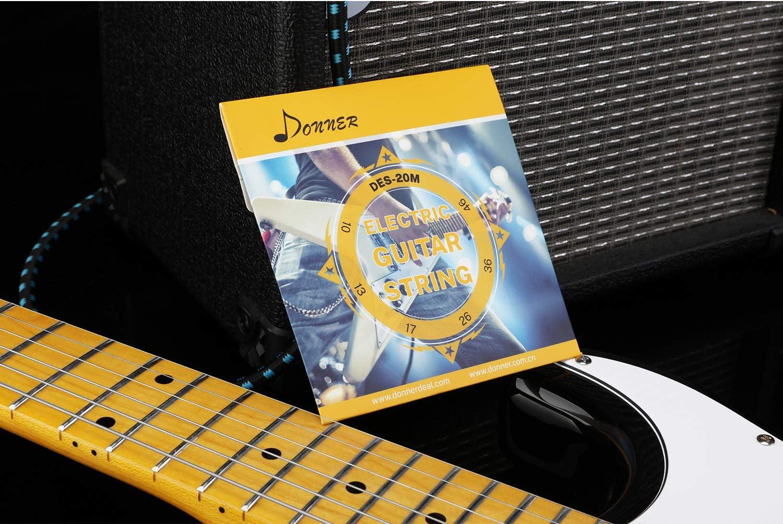 .010 - .046 Donner Juego de Cuerdas para Guitarra El/éctrica DES-20M Pack X1