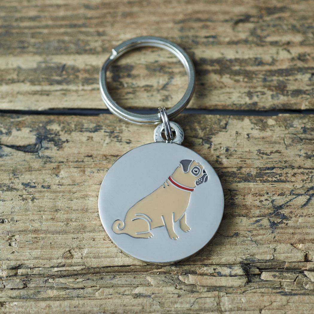 Grabado en la etiqueta de perro carlino: Amazon.es: Productos para ...