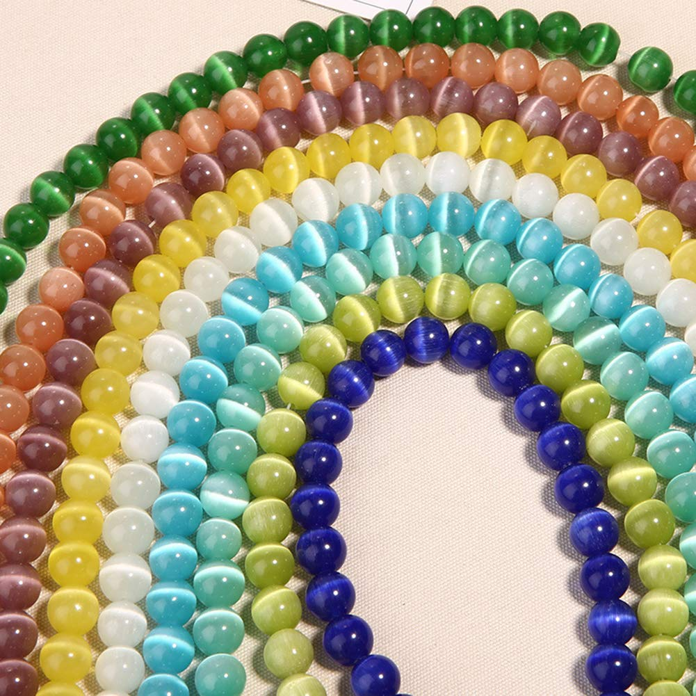 BLagenertJ Artificial Cats Eye Opal Spacer Loose Beads DIY for Jewelry Making Craft Fruit Green 4mm