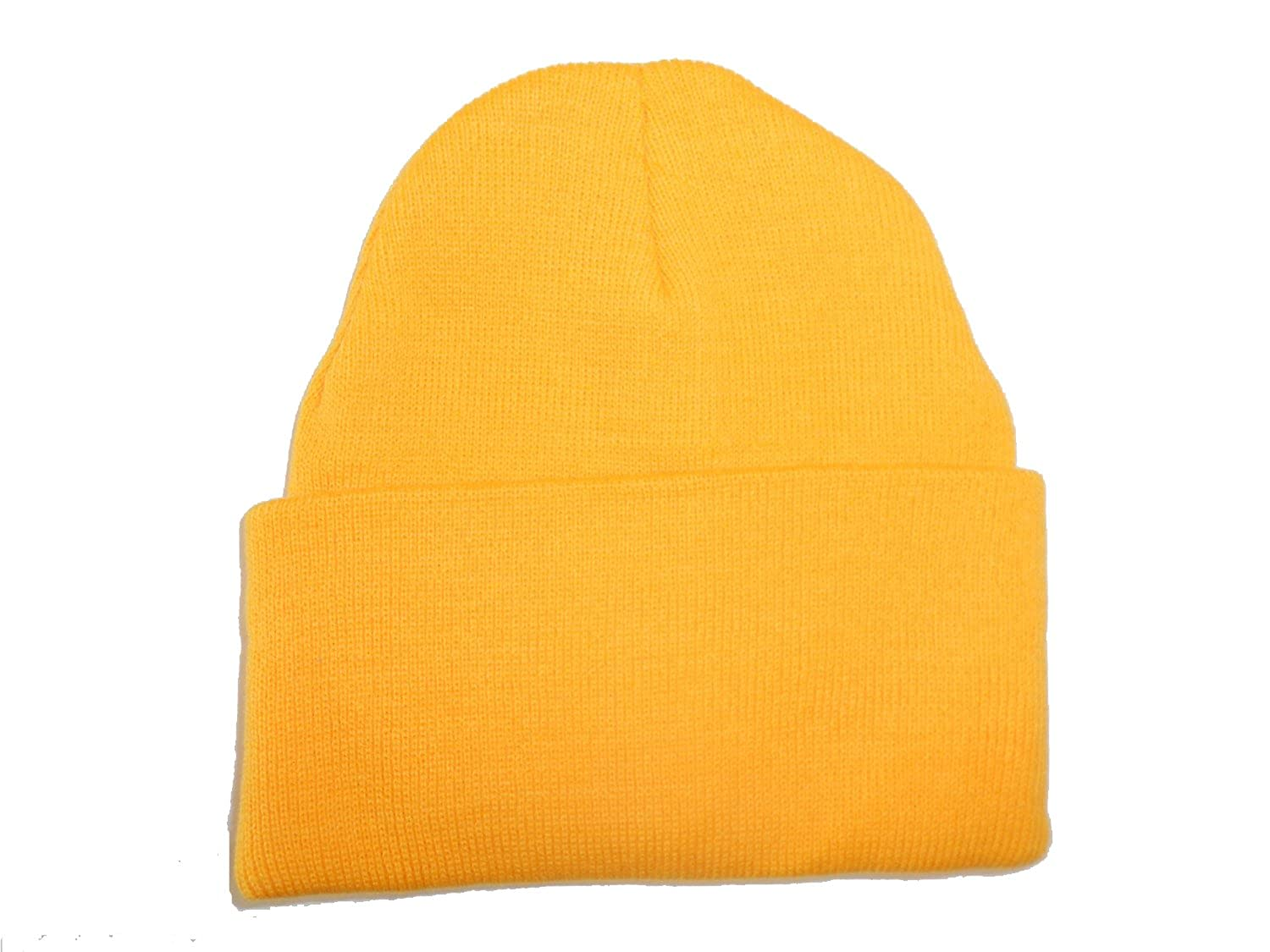 7188e813f980a Yellow-Gold Long Beanie   Knit Ski Hat   Warm In Winter! at Amazon Women s  Clothing store  Skull Caps