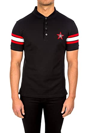 27be538f19816 Image Unavailable. Image not available for. Colour  Givenchy Men s  BM7015300H001 Black Cotton Polo Shirt