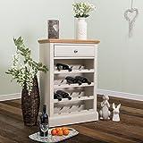 Suffolk Grey Painted Oak Wine Cabinet