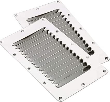 """2X Round Louvre Air Vent Fitting 5/"""" Ventilator Grille Cover Stainless Steel"""