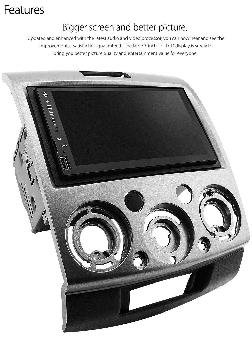 tunez 7 pulgadas Android 2 DIN Reproductor de pantalla t/áctil para Ranger PJ PK Coche Reproductor de MP3 USB Din Est/éreo Doble Din Unidad de radio est/éreo Unidad principal MP4 GPS