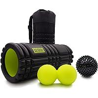 KALAHARI Foam Roller SET – Massagerol, Dubbele bal en Massagebal. Voor Triggerpointtherapie en Myofasciale Massage…