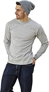 product image for Goodwear Adult Long Sleeve Crew Neck Grey Mock Twist