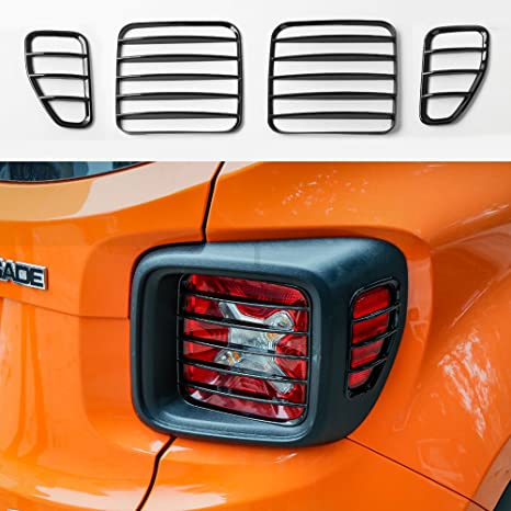 For 2015-2018 Jeep Renegade ABS Orange Tail Lamp Cover Rear light Frame Trim