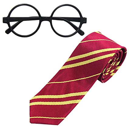 striped tie with novelty glasses frame for cosplay costumes accessories for halloween and christmas - Halloween And Christmas