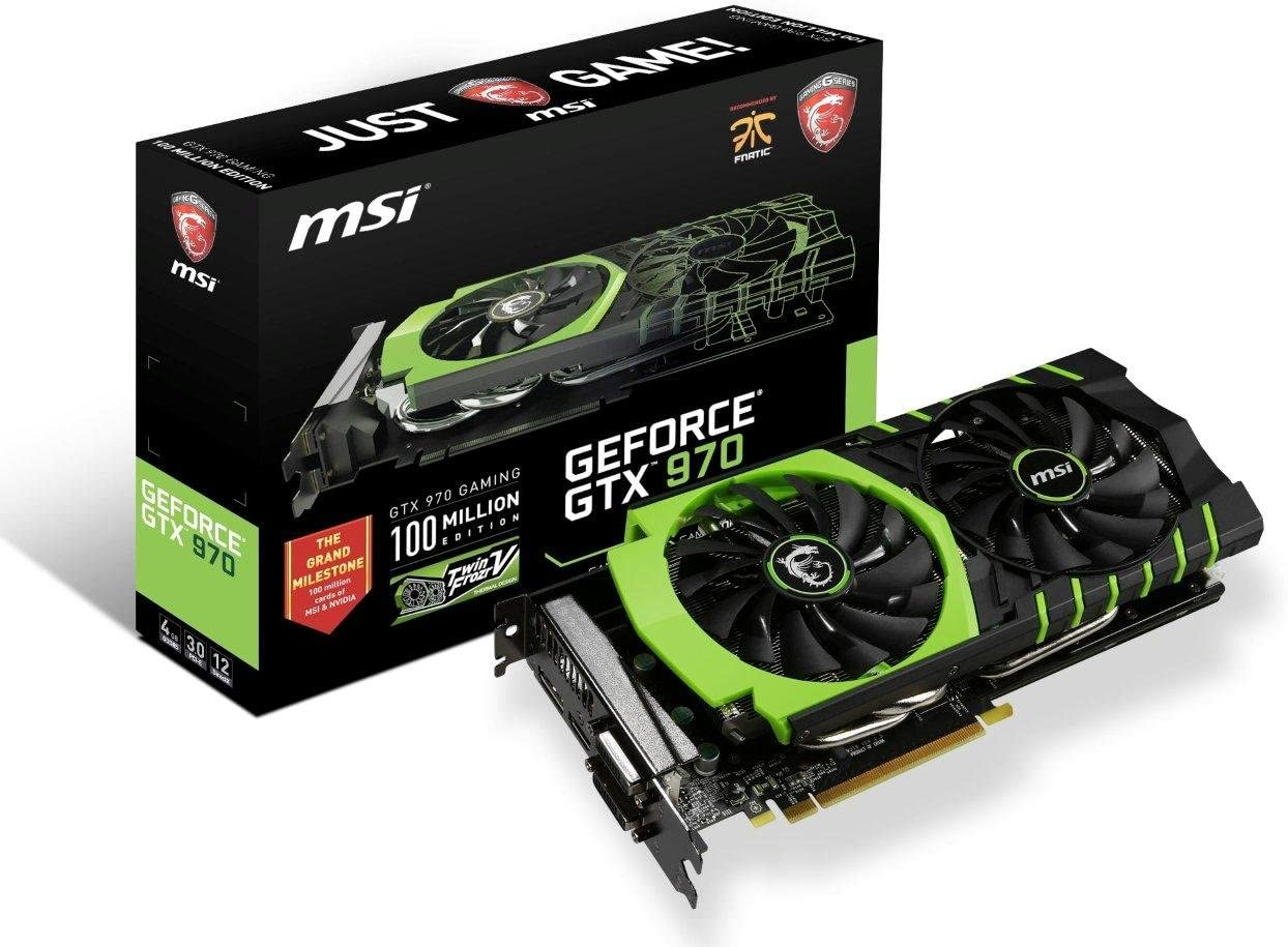 MSI Limited Gaming Edition GeForce GTX 970 4GB OC DirectX 12 VR Ready (GTX 970 Gaming 100ME)