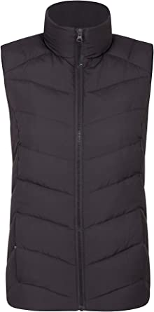 Two Zipped Front Pockets Warm Lightweight Mountain Warehouse Crescent Womens Down Gilet Water Resistant Comfortable Ladies Winter Vest- Perfect for Layering