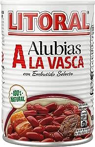 LITORAL Alubias a la Vasca - Plato Preparado de Alubias a
