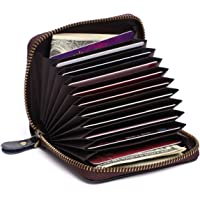 APHISON RFID Card Holder Wallets For Women Men Leather Coin Purse/Gift Box