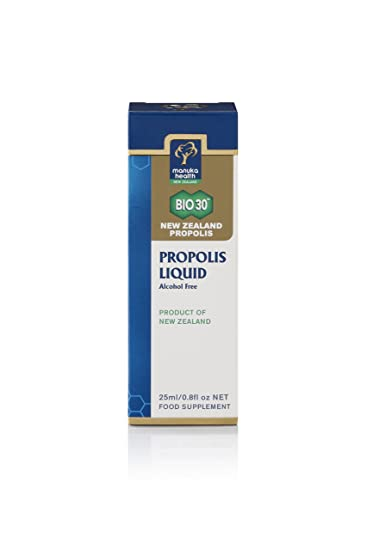 Manuka Health Propolis Liquid 25% BIO30 (Alcohol Free), 25 Ml
