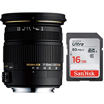 Sigma 17 - 50 mm f/2.8 EX DC OS HSM FLD gran apertura lente de ...
