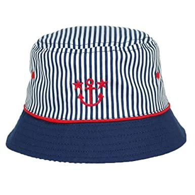6df0c91705471 Baby Boys Cute Summer Blue Anchor Hat with Navy Trim - 100% Cotton - 12-18  Months  Amazon.co.uk  Clothing
