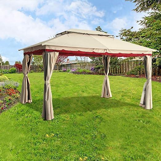 Greenbay 3 mx4 m al aire libre Metal cenador Gazebo toldo Garden ...