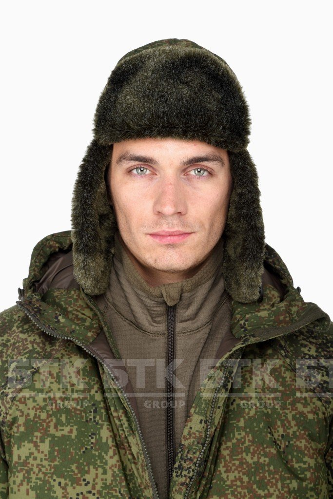 3992dcb2d2 Amazon.com  Russian Military Cap RATNIK Winter with insulation (Fur hat)  VKBO in Digital Flora by VKBO  Sports   Outdoors
