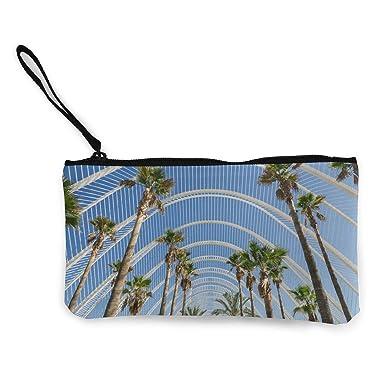 Amazon.com: Monedero de lona, diseño de palmeras, con ...