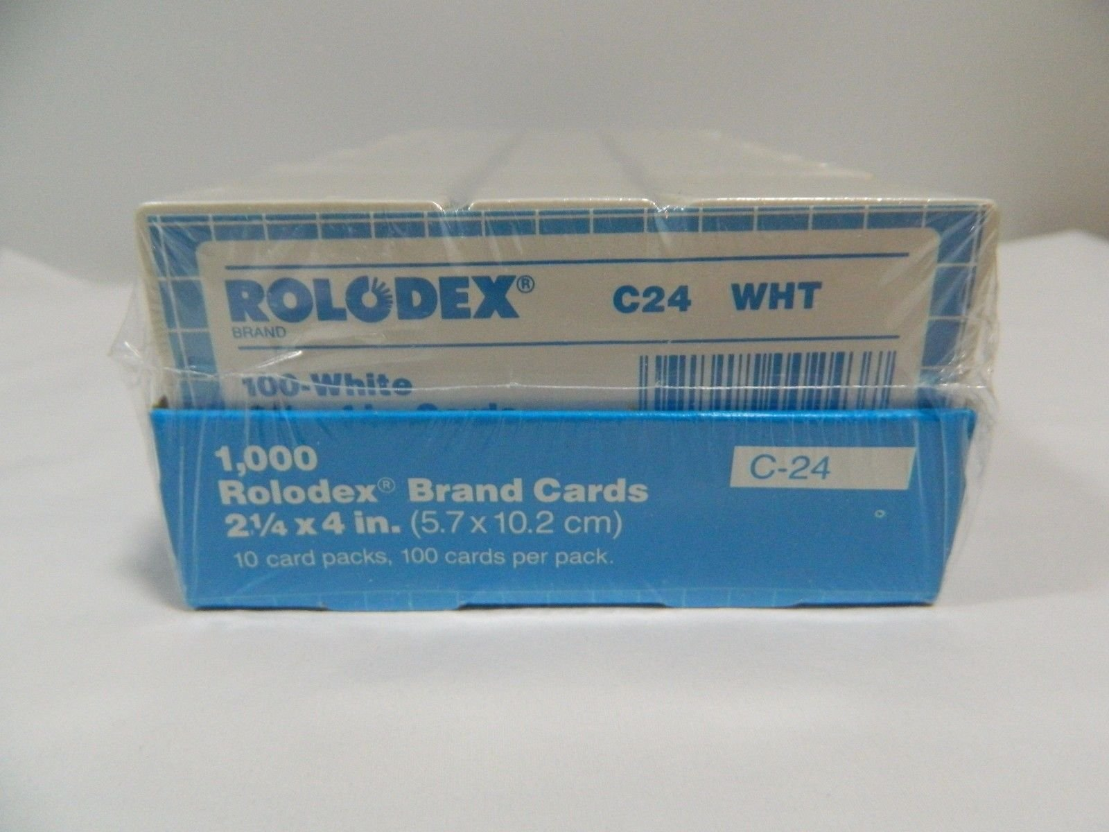Rolodex Genuine Brand Cards 1000ct. C-24 21/4X4 White File Cards by Rolodex by Rolodex (Image #1)