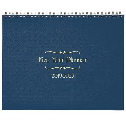 5 year calendar diary 2019 2023 blue