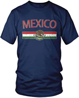 Amdesco Mens Mexican Flag and Coat of Arms, Mexico T-Shirt