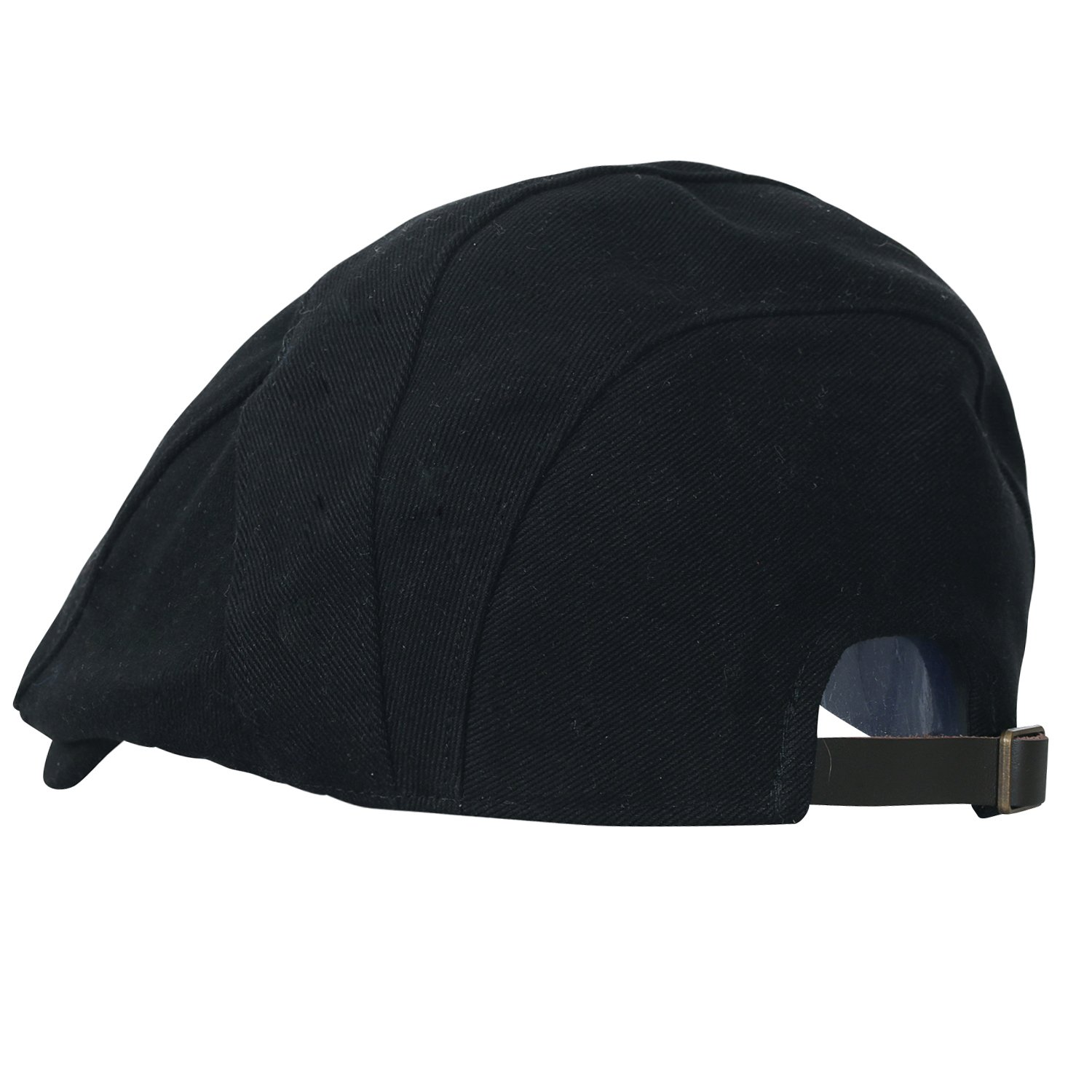 7871a057cae ililily Cotton Panel Adjustable Gatsby Newsboy Hat Cabbie Hunting Flat Cap