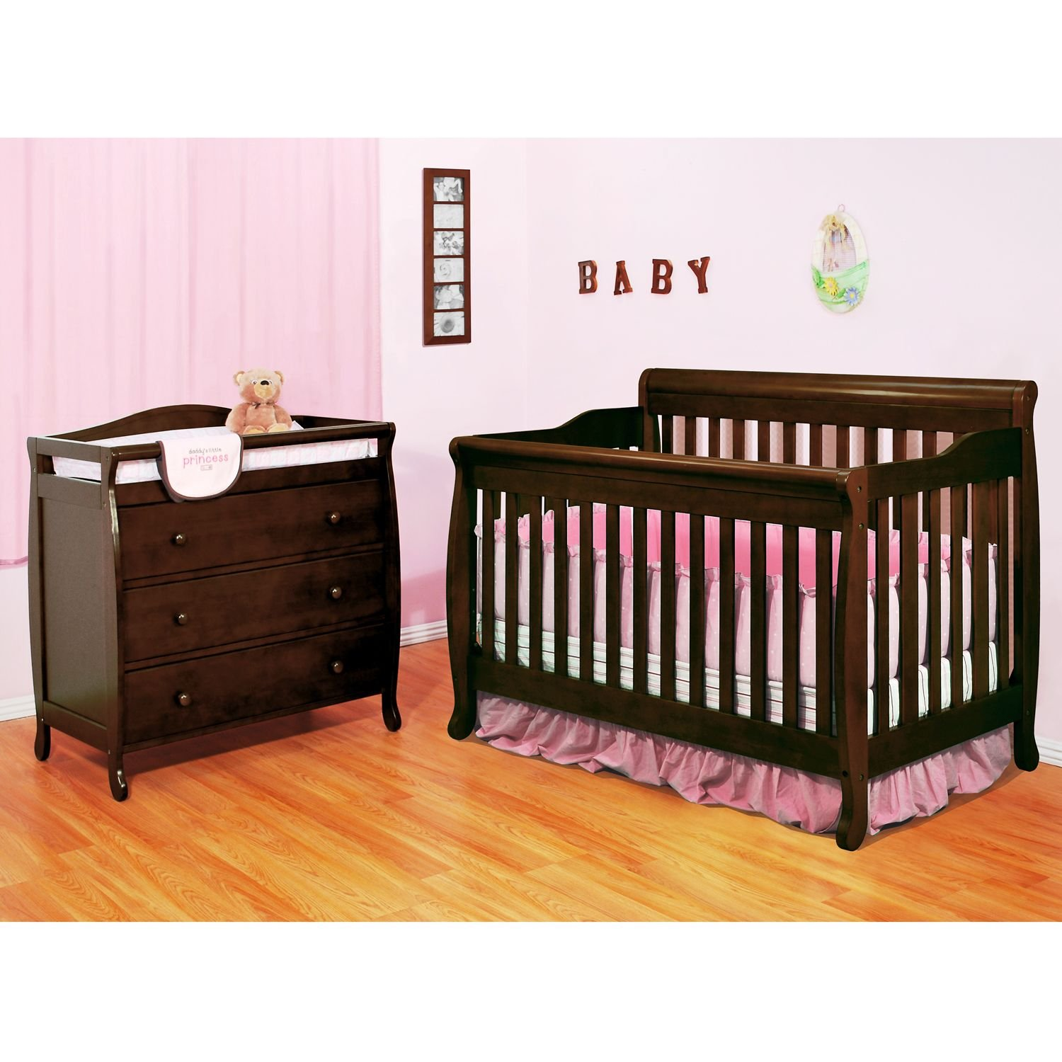Amazon.com : AFG Alice 3-in-1 Crib and Grace 3 Drawer Changer ...