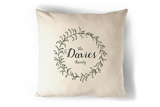 Tu Familia Nombre personalizado almohada cojín de regalo ...
