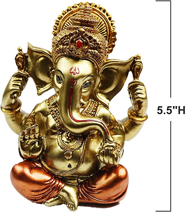 Hindu God Lord Ganesha Idol Statue - Indian Elephant Buddha Ganesha Sculpture -India Home Pooja Diwali Decoration