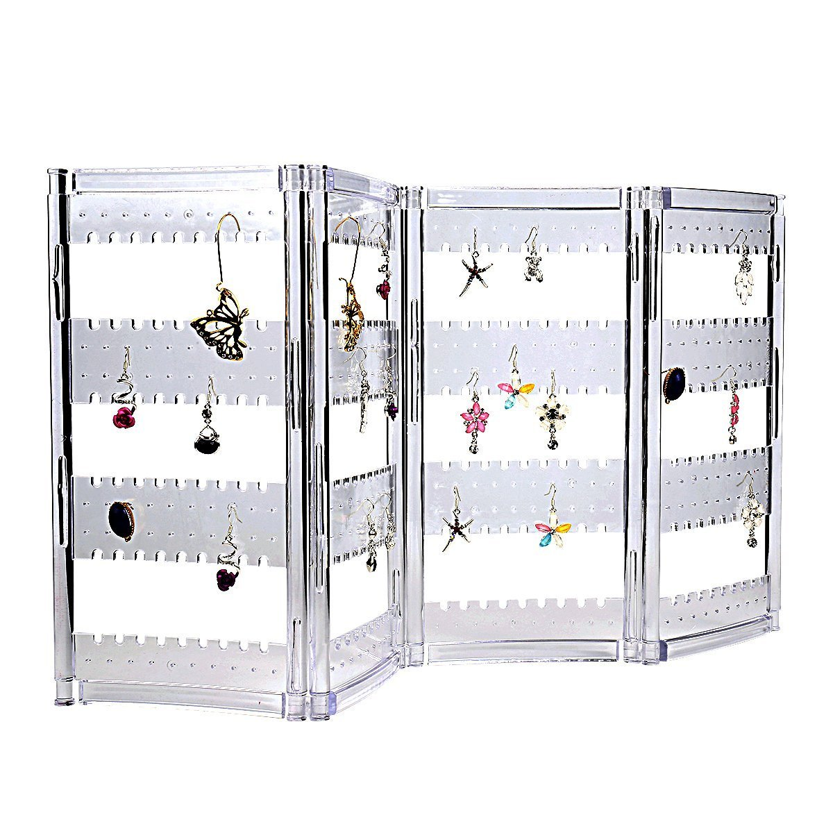 Sky Piea Acrylic Foldable 240 Grids Earring Jewelry Screen Holder