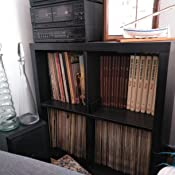 IKEA Kallax - Mueble rectangular de 8 estantes, marrón, 77x147 cm ...