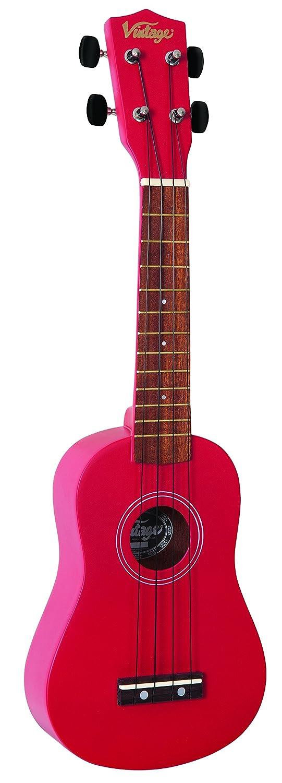 Vintage VUK15RD - Ukelele soprano (tipo vintage), color rojo
