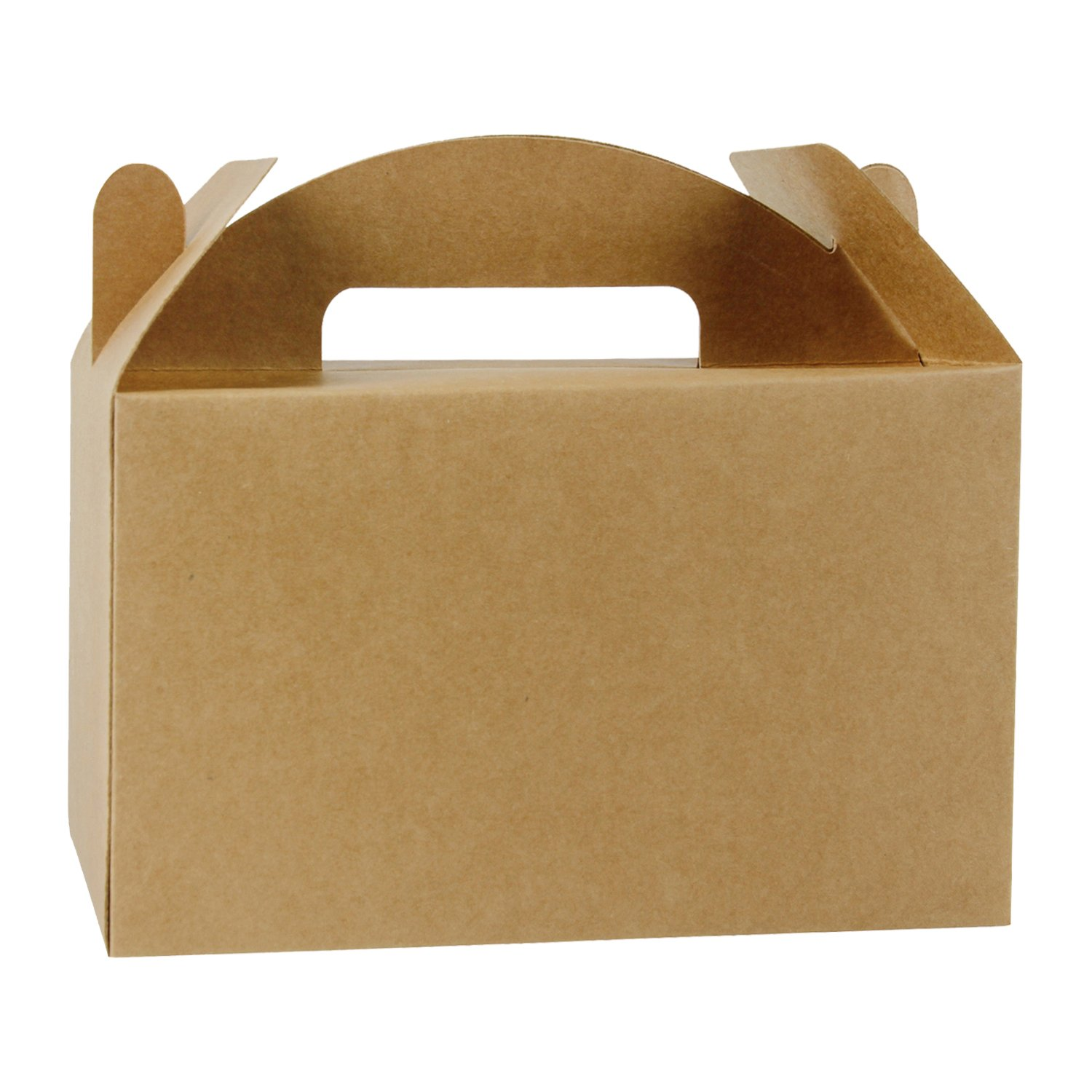 LaRibbons 12 Pack Treat Gift Boxes - 9.5 x 5 x 5 inches Brown Paper Box Recycled Kraft Gift Box Birthday Party Shower Favor Box