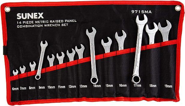 Sunex 9715 14pc Metric Wrench Set