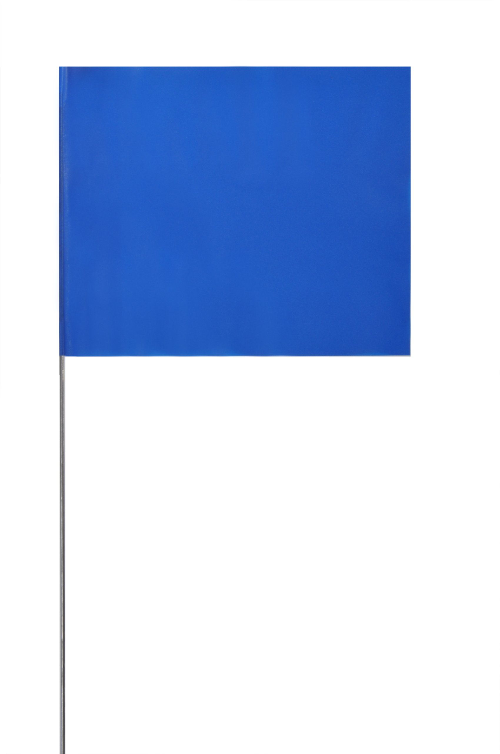 Presco 4521 Safety Flag, 5'' Overall Length, 4'' Overall Width, Blue (Pack of 1000)