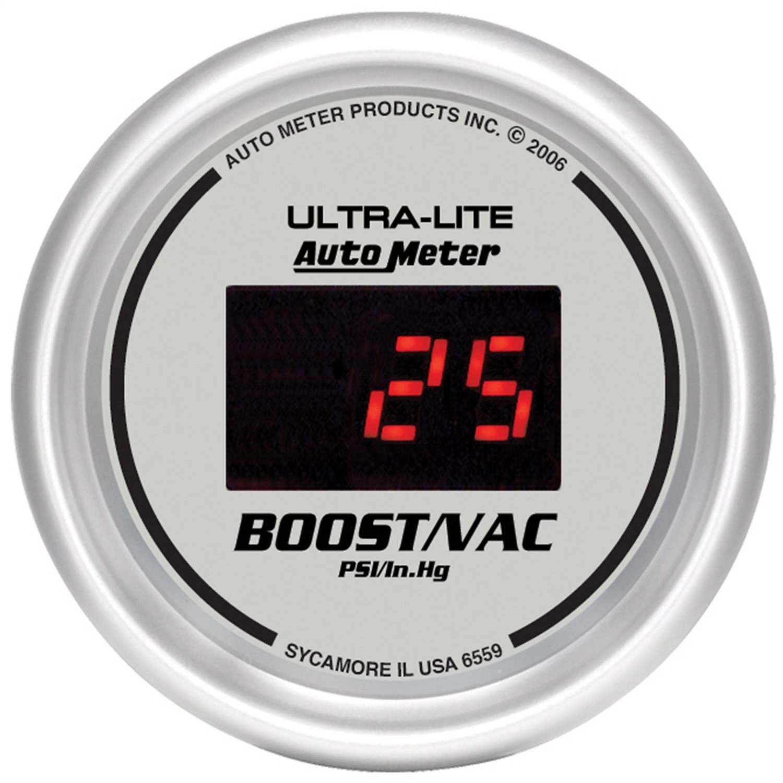 Auto Meter 6559 Ultra-Lite Digital 2-1/16'' 30 In Hg.-Vac./30 PSI Digital Vacuum/Boost Gauge