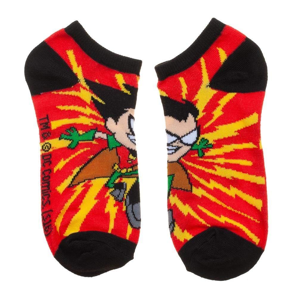 Teen Titans Go Characters Design Set of 5 Adult Ankle Pedi Socks