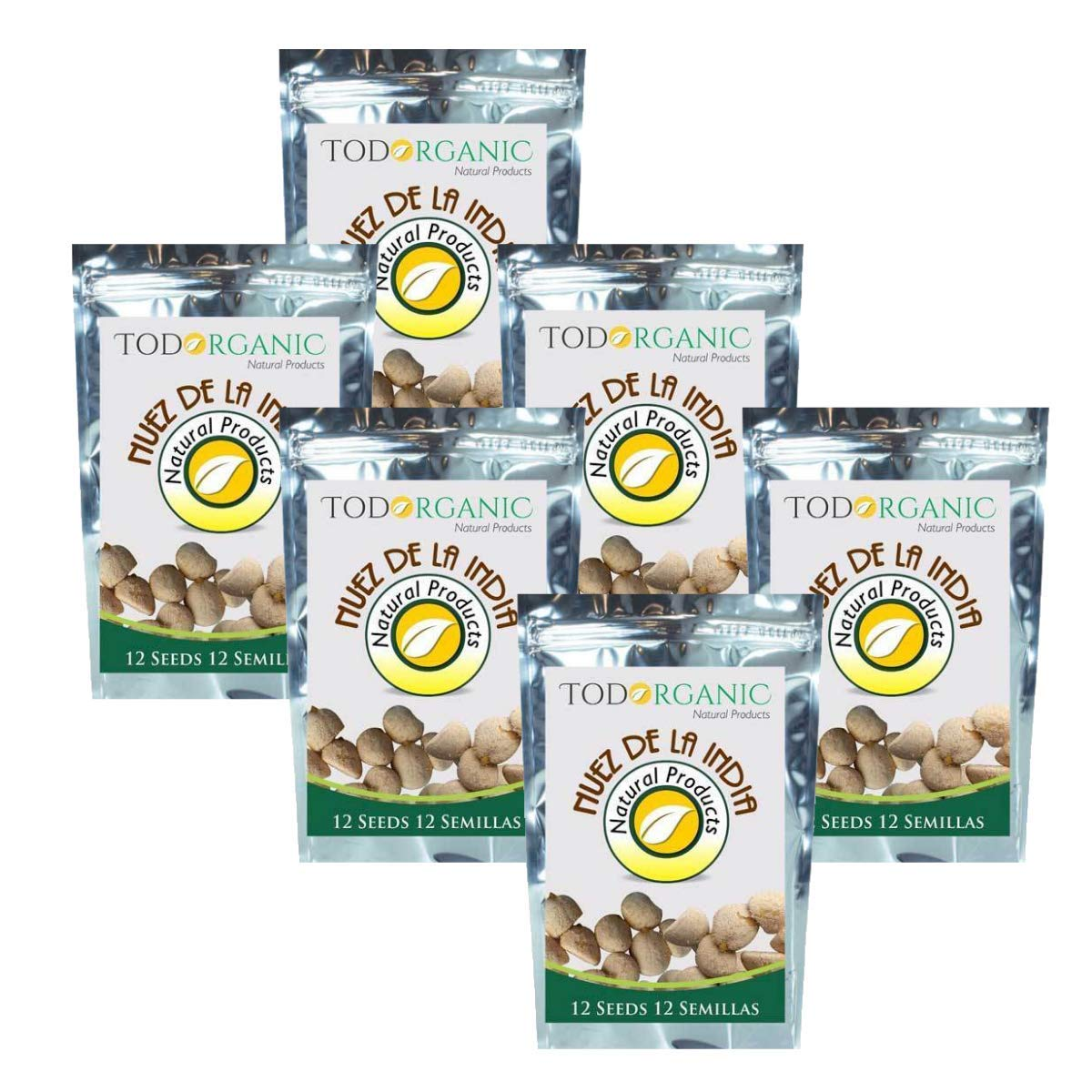 6 Pack Indian Nut 72 Seeds for Weight Loss original Nut,Indian seed