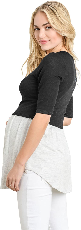 Hello MIZ Womens Empire Waist Babydoll Maternity Nursing Top