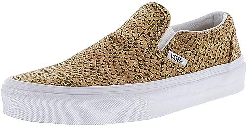 558e466da0 Vans Classic Slip-On Embossed Cork Natural True White Ankle-High  Skateboarding Shoe