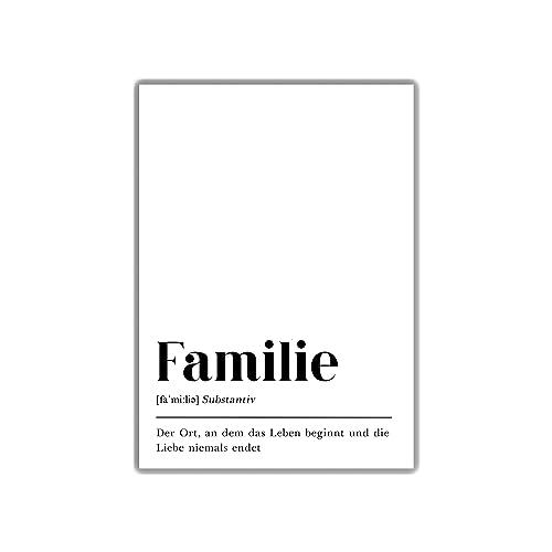 Din A4 Poster Typografie Geschenk Fur Eltern Schrift Dekoration