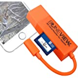 BoneView SD Card Reader for iPhone - Trail Camera Viewer Reads Memory Chip from Any Deer Hunting Scouting Game Camera…