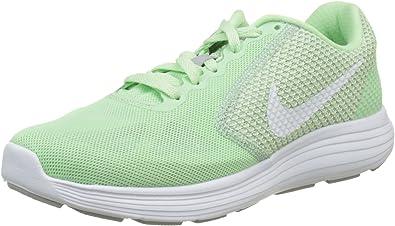 Nike Revolution 3, Zapatillas de Running para Mujer, Verde Menta Verde Blanco Lobo Gris, 44.5 EU: Amazon.es: Zapatos y complementos