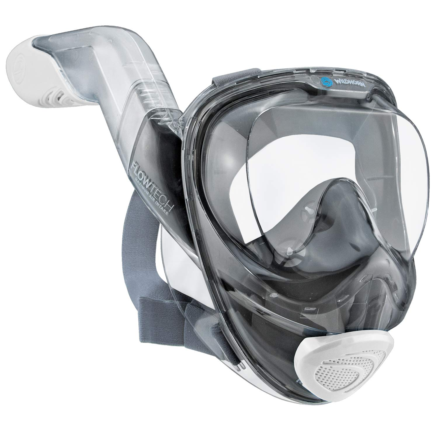 WildHorn Outfitters Seaview 180° V2 Full Face Snorkel Mask with FLOWTECH Advanced Breathing System - Allows for A Natural & Safe Snorkeling Experience- Panoramic Side Snorkel Set Design by WildHorn Outfitters