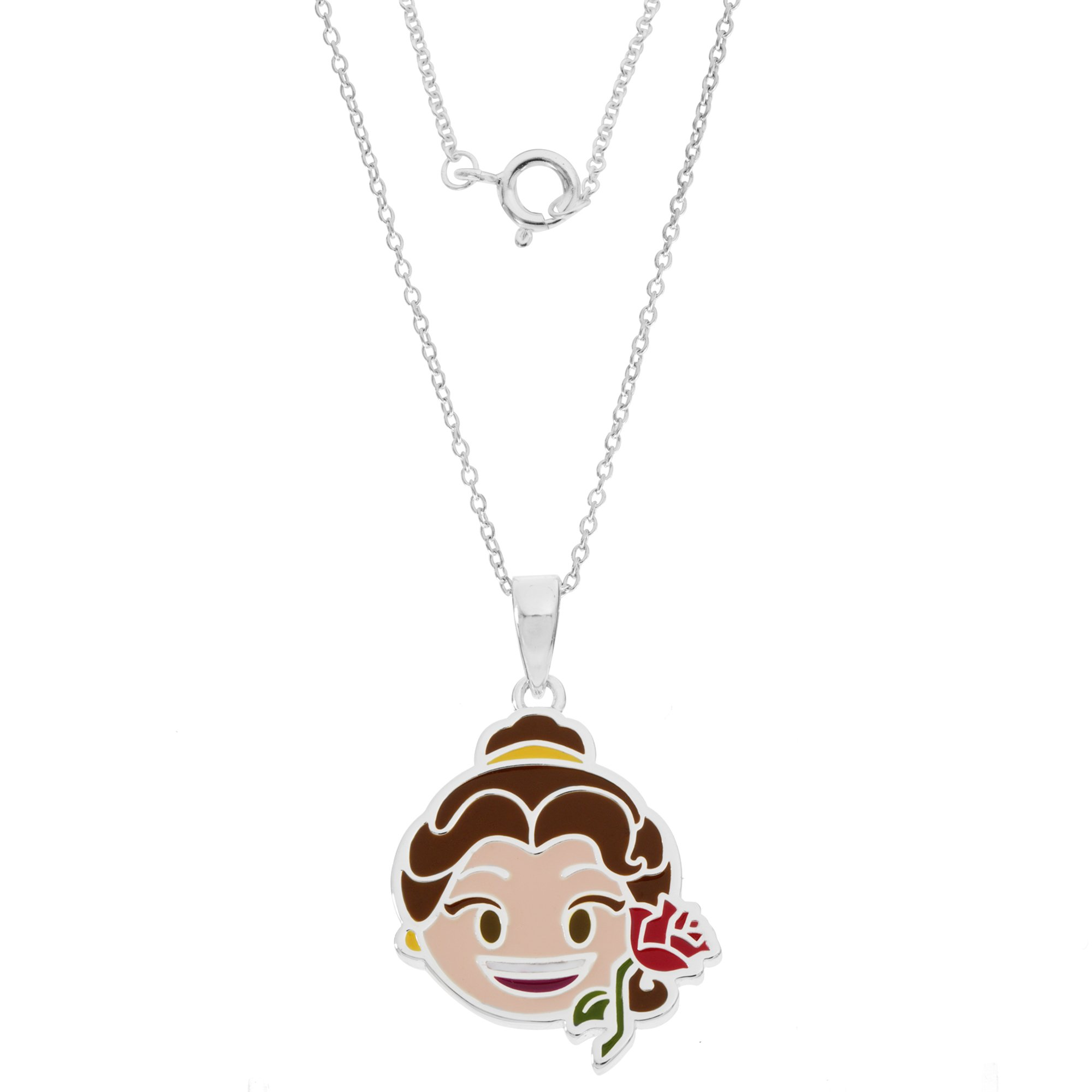 Disney Women's and Girls Jewelry Beauty and The Beast Belle Silver Plated Pendant, 18'' by Disney (Image #2)