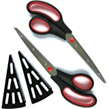 Set Of 2 Pizza Cutter Scissors With Serving Spatula For Easy Cutting Of Piping Hot Pizzas And Hot Food Without Scalding Your